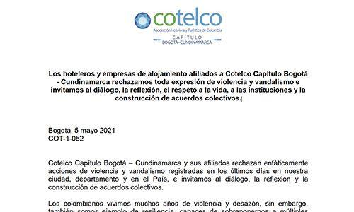 En este momento estás viendo Comunicado Cotelco Bogotá